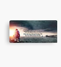Interstellar - Do not go gentle into that good night Metal Print