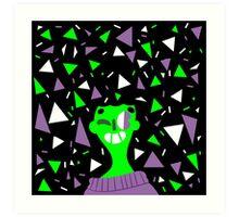 Far Out Triangles! Art Print