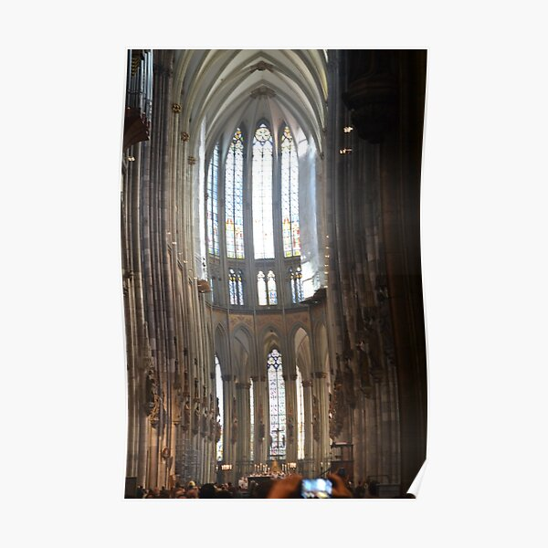 Inside the cologne cathedral Poster