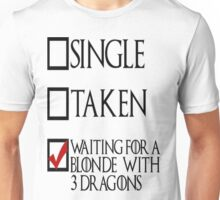 Game of Thrones - Blonde with 3 Dragons Unisex T-Shirt