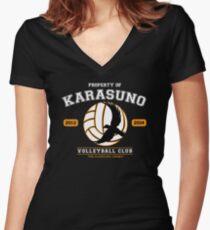 Team Karasuno Women's Fitted V-Neck T-Shirt