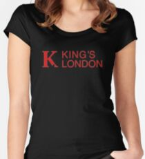 king's college london Women's Fitted Scoop T-Shirt
