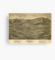 Vintage Pictorial Map of Helena Montana (1875)  Canvas Print