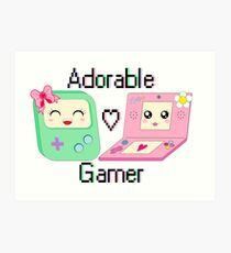 Adorable Gamer ~ Devices Art Print