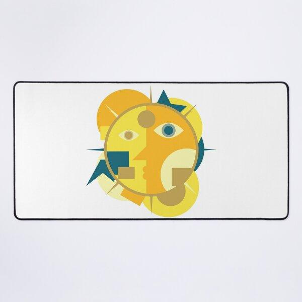 Sun Cubism Desk Mat