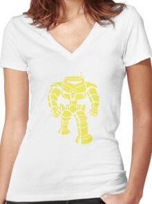 Manbot - Lime Variant Women's Fitted V-Neck T-Shirt