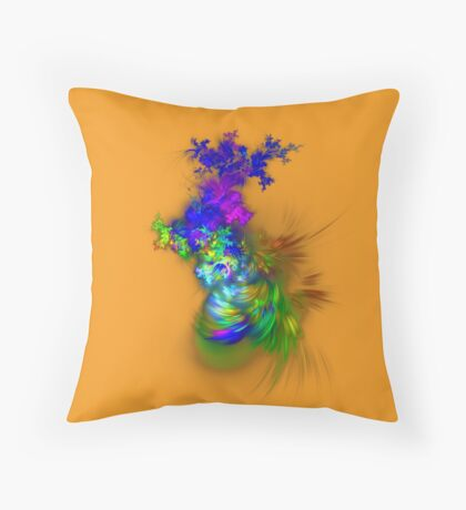 Vase of flowers #fractals Throw Pillow
