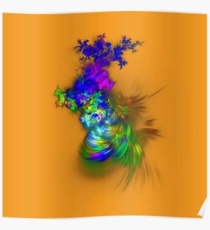 Vase of flowers #fractals Poster
