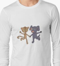 Cute and funny kitten and puppy  Long Sleeve T-Shirt