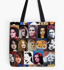 25 wunderbare Frauen als Portrait Tote Bag