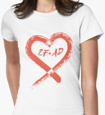 PLL's EF + AD - Emison Kissing Rock Heart Womens Fitted T-Shirt