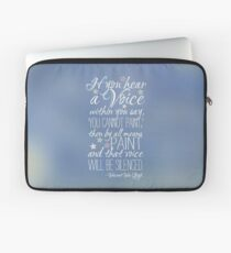 Beautiful quote by Vincent van Gogh Laptop Sleeve