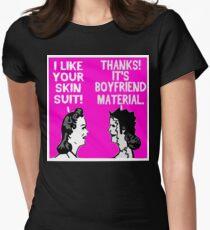 Dark Humor-- Boyfriend Material Womens Fitted T-Shirt