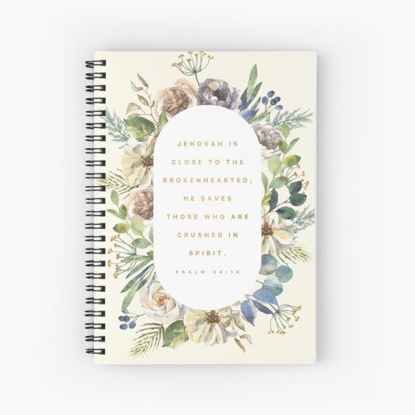 PSALM 34:18 Spiral Notebook