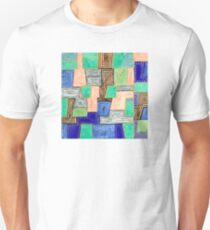Complex Pattern with Golden Lines Unisex T-Shirt