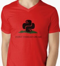 Python Snek - Don't Thread On Me Men's V-Neck T-Shirt