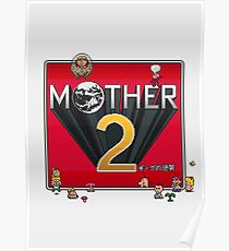 Alternative Mother 2 / Earthbound Title Screen Poster