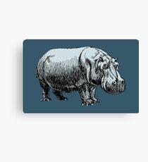 Blue Hippopotamus  Canvas Print