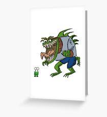 Funny Cartoon - Unimpressed Monster  Greeting Card