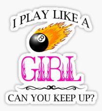 8 Ball Pool - Play Like a Girl Sticker