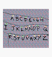 Stranger Things Alphabet Photographic Print