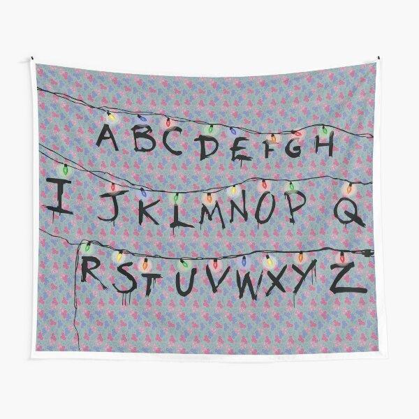 Un alfabeto de cosas extrañas Tela decorativa