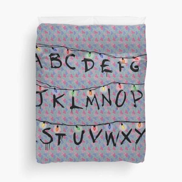 Stranger Things Alphabet Duvet Cover