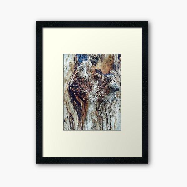 Alien Wood Framed Art Print