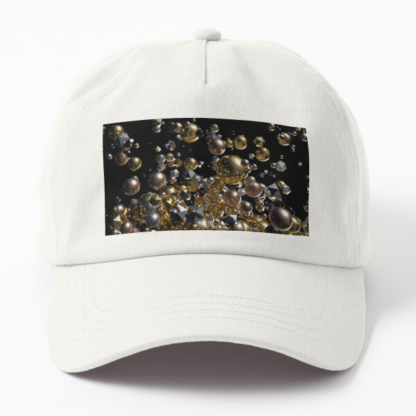 Elegant Abstract Geometry Explosion -Gold and Silver,Black- Dad Hat