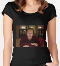 Jack Nicholson The Shining Still - Stanley Kubrick Movie Women's Fitted Scoop T-Shirt