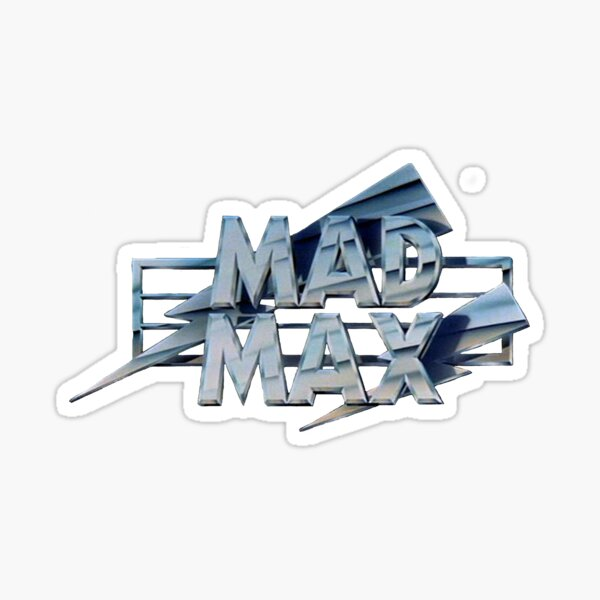 Mad Max film title Sticker