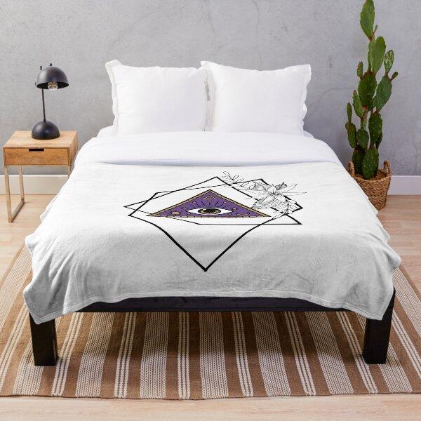 Mystic Illuminati Eye Geometric Throw Blanket
