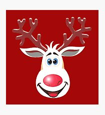 Happy Rudolph - The Red Nosed Reindeer Photographic Print