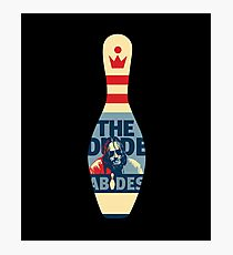 The Dude Bowling Pin Photographic Print