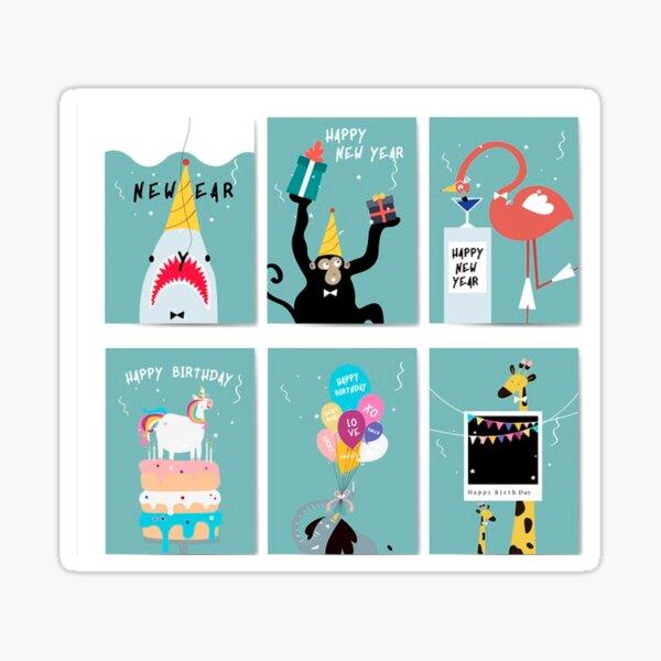 Funny Birthday Celebration of the Animals  Sticker
