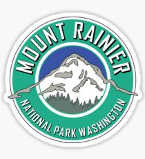 MOUNT RAINIER NATIONAL PARK WASHINGTON 1899 HIKING CAMPING CLIMBING Sticker