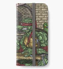 Teenage Mutant Ninja Turtles Vs. Thundercats - Arm Wrestle iPhone Wallet/Case/Skin