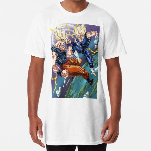SSJ2 Goku vs Majin Vegeta - Q10Mark Long T-Shirt