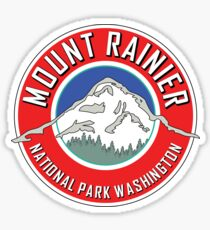 MOUNT RAINIER NATIONAL PARK WASHINGTON 1899 HIKING CAMPING CLIMBING RED Sticker