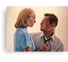 Kate Winslet and Leonardo DiCaprio Painting Canvas Print