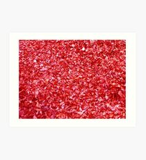 Hojas rojas - Leaves Red Art Print