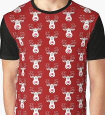 Happy Rudolph - The Red Nosed Reindeer Graphic T-Shirt