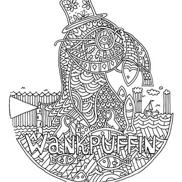 Wankpuffin (on 70% white) by shufti