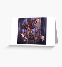 Midnight Witch Greeting Card