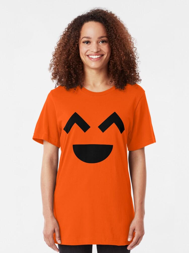 Alternate view of Laugh Out Loud (Black) Slim Fit T-Shirt