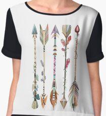 Boho Tribal Arrows Chiffon Top