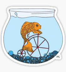 Fish on a Bicycle  Sticker