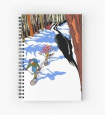 Woodpecker in the tree Spiral Notebook