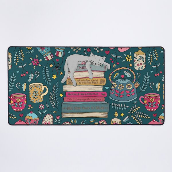 How to Hygge Like a Cat Desk Mat