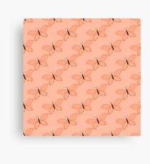 Butterfly color abstract pattern Canvas Print